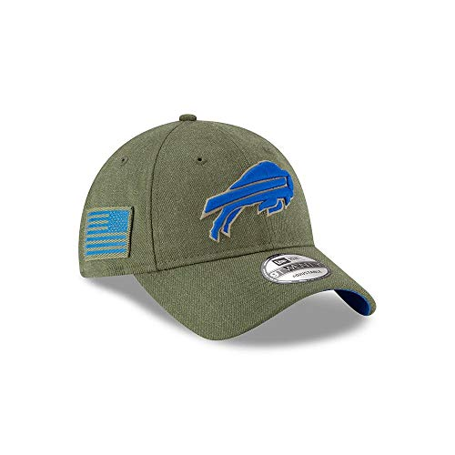 New Era Mens NFL 2018 Salute to Service 9Twenty Strapback Hat (Buffalo ()