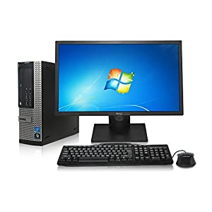 "Dell Optiplex 7010 SFF Desktop - Intel Core i5 3.1GHz, 16GB DDR3, New 1TB Hard Drive, Windows 7 Pro 64-Bit, WiFi, USB 3.0, DVD-ROM, 2x Display Port + New Dell 24"" LCD Monitor! (Prepared by ReCircuit)"