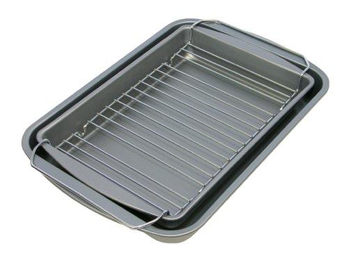 OvenStuff Nonstick Bake, Broil, Roast Pan 3 Piece Set, 14.5'' x 10.5'' x 2''