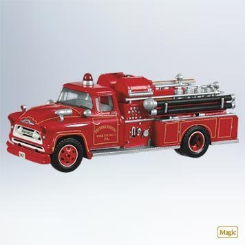 Hallmark 1957 Chevrolet Fire Engine #9 2011 Ornament - QX8849