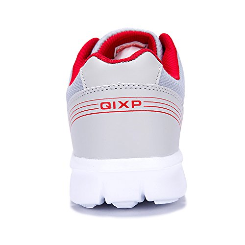 Sneakers 2018 Jacky's Hombre Breathable Mesh Shoes Men Casual Zapatos Light Gray Shoes Fashion Red nnxzSg
