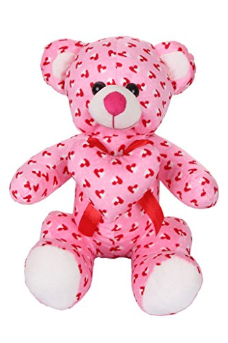 Deals India Valentine Pink Heart Teddy Stuffed soft plush toy Love Girl- 35cm