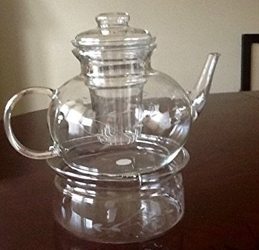 Princess House Crystal Heritage Teapot & Lid- with Infuser