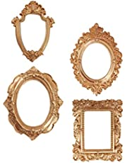 KESYOO 4 pcs Vintage Picture Frame Antique Golden Photo Frame Wall Hanging Photo Frames Table Top Photo Display Christmas Holiday Home Decoration (Golden)