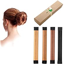 Hair Bun Maker Donut Clip Shaper , Magic Former Foam French Twist Hairstyle DIY Doughnuts Tool For Women Girls ,4 Pack (4 colors)
