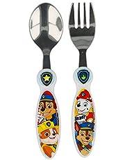 Paw Patrol barnbestick gaffel och sked rostfritt stål huvud set med 2