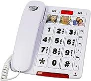 Future Call FC-2804 Teléfono de botón grande para personas mayores | 3 teclas de imagen y altavoz | Teléfonos