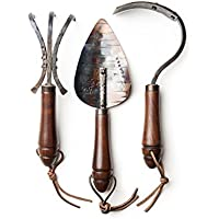Handcrafted Garden Tool Gift Set, Hand Forged by Fisher Blacksmithing in Bozeman Montana