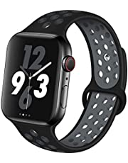 OriBear Compatible for Apple Watch Band 44mm 42mm 40mm 38mm, Breathable Sporty for iWatch Bands Series 4/3/2/1, Watch Nike+, Various Styles and Colors for Women and Men
