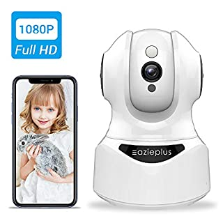 Wireless Security Camera,Eazieplus,1080P HD IP Camera Indoor for Home Security,Pan Tilt Baby Monitor/Pet Camera, Night Vision, Works with Alexa,2 Way Audio,Motion Detection,Activity Alert.