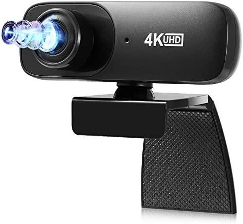Full HD Webcam 4K,HD Live Streaming USB Computer Webcam [Plug and Play] for PC Video Conferencing/Calling/Gaming, Laptop/Desktop Mac, Skype/YouTube/Zoom/Facetime