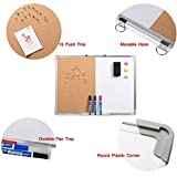 Marble Field Magnetic Dry Erase Board & Cork