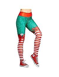 Dawdyfu Sexy Women Digital Print Galaxy Legging Running Yoga Pants