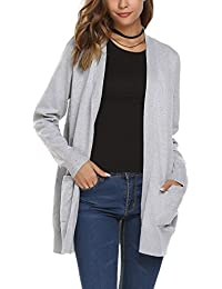 Women's Open Front Casual Knit Cardigan Sweater Blouses