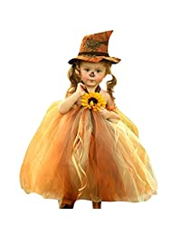 Veepola Kids Baby Girls Halloween Costume Cosplay Princess Witch Tulle Dress