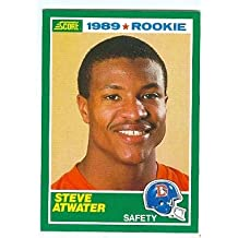 Steve Atwater football card (Denver Broncos saftey) 1989 Score #263 Rookie