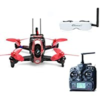 Walkera Rodeo 110 110mm RC Racing Drone Quadcopter RTF With 5.8G FPV Head Tracker Goggle2 /Charger/ 600TVL Camera DEVO 7 TX (High Version)