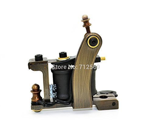 Top Tattoo Machine Brass 12 Wrap Coil Handmade Tattoo Machine Gun For Shader Hot Sale