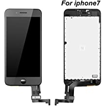 """IPhone 7 Screen Replacement,Phone Partz Repair and Replacement LCD Touch Screen Display & Touch Screen Digitizer Assembly for iPhone 7 (4.7"""") Black"""