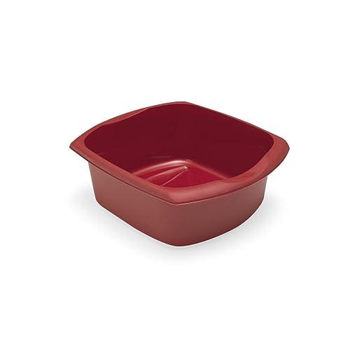 Addis Rectangular Washing Up Bowl, Roasted Red, 9.5 Litre