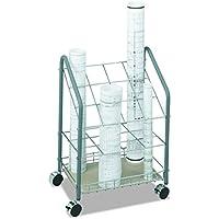 Safco 3090 Wire Roll/File, 12 Compartments, 18w x 12-3/4d x 24-1/2h, Gray