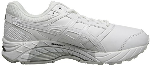 Gel Comfortable 12 4E cm or 5 Trainers 3 Leather Wide Foundation Silver Extra Walker Size White Mens Color ASICS cm 30 w47EqzE