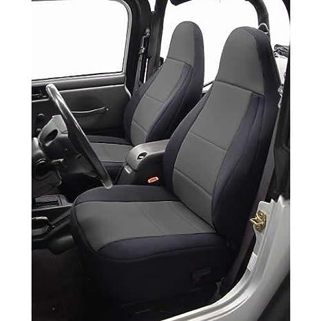 Neoprene, Black//Tan SPC130 Coverking Custom Fit Seat Cover for Jeep Wrangler TJ 2-Door