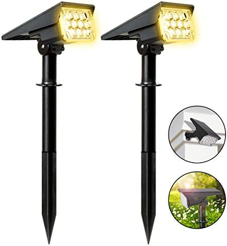 MEIKEE Solar Landscape Lights,40 LEDs Outdoor Solar Landscape Spotlights Upgraded Waterproof Wireless Solar Powered Landscape Spotlights for Garden Patio Yard Cold Warm White Adjustable 1 Pack