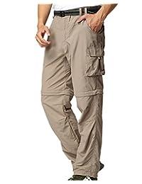 Jessie Kidden Men's Outdoor Quick Dry Hiking Pants Convertible Cargo Shorts #225