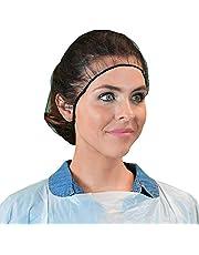 "Qiansou Disposable Hair Nets Durable Nylon Breathable Honeycomb Latex Free 24"""