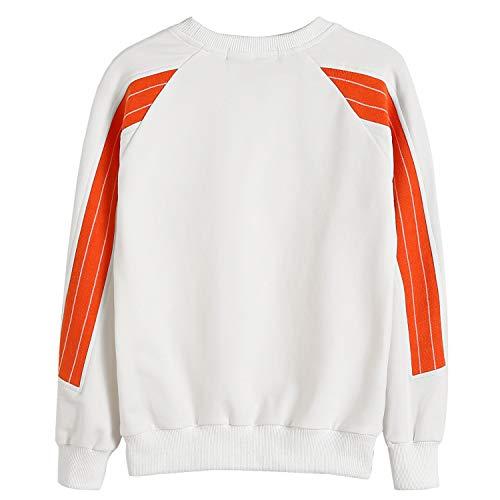 Hajotrawa Women Sport Letter Crew Neck Long Sleeve Pullover Sweatshirts
