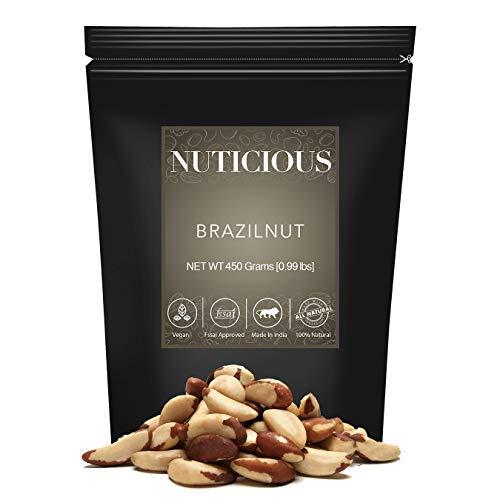 NUTICIOUS Natural Jumbo Brazilnut-450 gm (Gourmet Vegan Food Premium Quality)