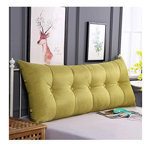 - Cushion Double Bed Pillows Coarse Hemp Large Back Sofa Pillow Bed Back Cushion Bench Cushion 7 Size (Color : Yellow, Size : 1506020cm)