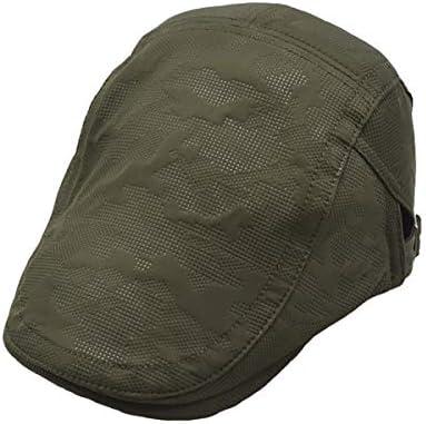 野球帽 キャスケット メンズ 鳥打帽 ゴルフ メッシュ 日よけ 調整可能 通気 ハンチング 55-61cm LWQJP (Color : カーキ, Size : M)