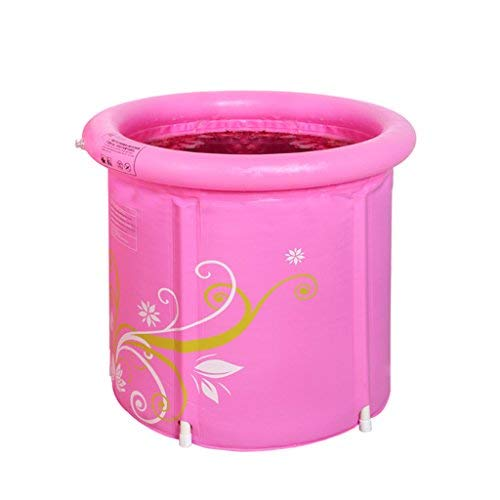 5865cm ZHAS Inflatable Bathtub Foldable Inflatable Collapsible Bathtub Pressure Pink Adult Thicken Inflatable Tub (Size  58  65cm)