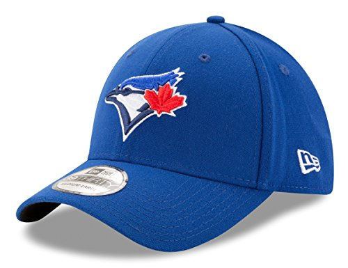 (MLB Toronto Blue Jays Team Classic Game 39Thirty Stretch Fit Cap, Blue, Small/Medium)