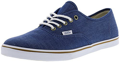 対処する幹包括的Vans Womens Authentic Low Top Lace Up Canvas Skateboarding Shoes