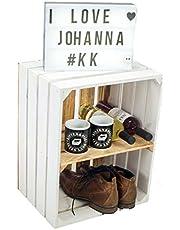 Massieve schoenen-boekenkast, fruitkist, wijnkist, afmetingen ca. 50 x 40 x 31 cm, xxxuit de oude landxxxwijnkist, fruitkist, houten kist, decoratiekist, rek