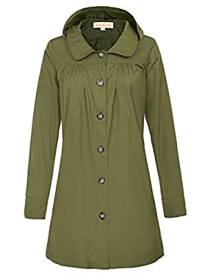 Womens Lightweight Hooded Waterproof Active Outdoor Rain Jacket