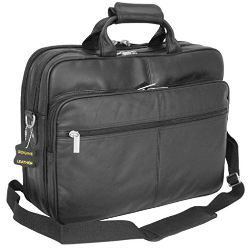 Black Professor Briefcase, Soft and Attractive Leather Material Lightweight