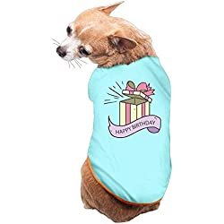 Dog Cat Pet Shirt Clothes Puppy Vest Soft Thin Happy Birthday 3 Sizes 4 Colors Available