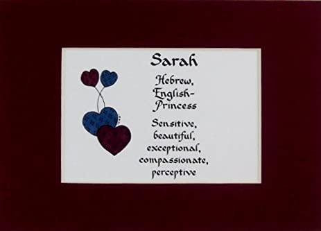 Amazon personalized girl name meaning sarah wall picture personalized girl name meaning sarah wall picture keepsake gift made in the usa negle Gallery