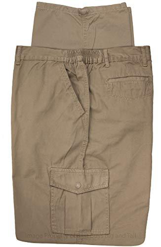 Full Blue Big & Tall Men's Cargo Pants 100% Cotton by 54 X 32 Khaki #562B ()