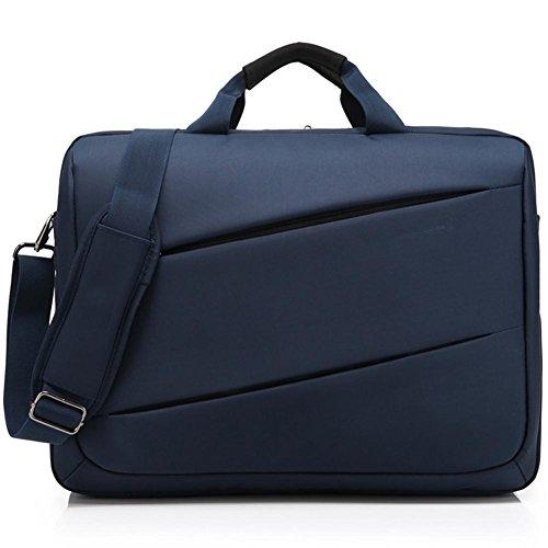 Bolso de la computadora de 17 pulgadas del negocio del bolso de hombro de la cremallera de los hombres , 17 inches blue