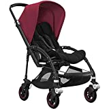 Bugaboo Bee5 Complete Stroller - Black Ruby Red - Compact - Foldable Stroller for Travel and Urban Life. Easy to Steer on City Streets & Tight Turns! The Most Popular Lightweight Stroller!