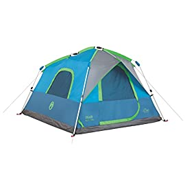 Coleman Camping Instant Signal Mountain Tent 120 Weather Tec system - patented welded floors and Inverted seams help keep water out Instant setup in about 60 seconds. Pre-attached poles for quicker, simpler setup - just extend and secure Integrated rainfly doesn't require separate assembly