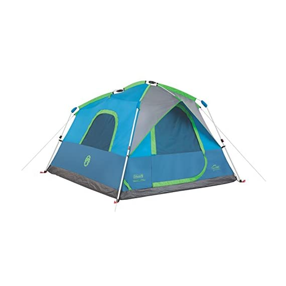 Coleman Camping Instant Signal Mountain Tent 1 Weather Tec system - patented welded floors and Inverted seams help keep water out Instant setup in about 60 seconds. Pre-attached poles for quicker, simpler setup - just extend and secure Integrated rainfly doesn't require separate assembly