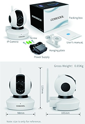 CosCool IP Camera 1080P Wireless,Wifi Surveillance Camera Network Security Webcam,Microphone Inside,Two Way Audio,Onekey Wifi Fast Setting,Night Vision,ONIVF,Pan/Tilt Movement Baby Pet Video Monitor by CosCool (Image #3)