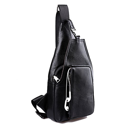 Bag Chest Vintage Casual Shoulder Man's Huyangfeng Leather For Leisure Top Men's Business nXgp4xxE