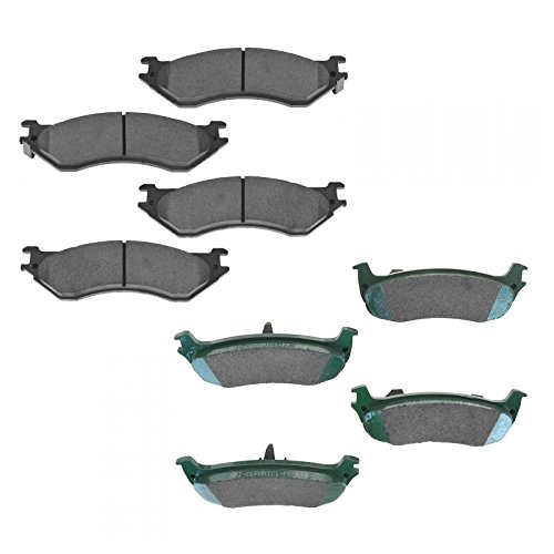 Front & Rear Ceramic Brake Pad for F150 F250 Expedition Navigator ()